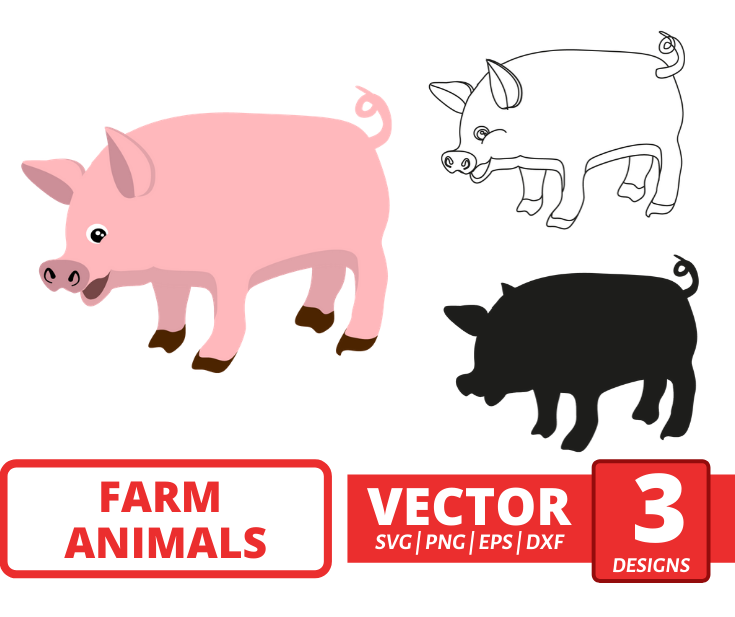 Pig SVG vector bundle - Svg Ocean