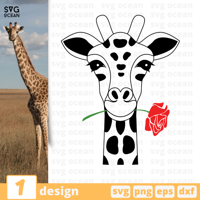 Free Giraffe quote SVG printable cut file Giraffe - Svg Ocean