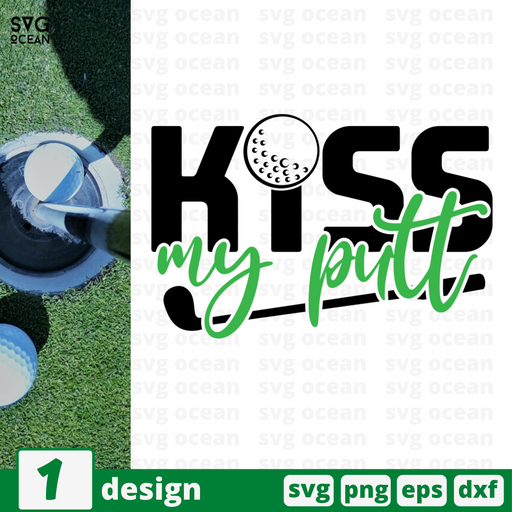 Kiss my putt SVG vector bundle - Svg Ocean