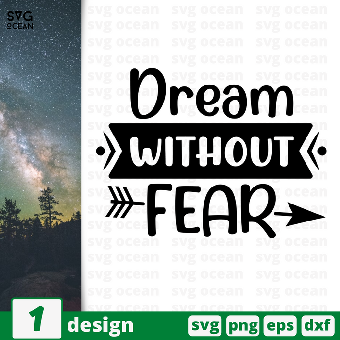 Dream without fear SVG vector bundle - Svg Ocean