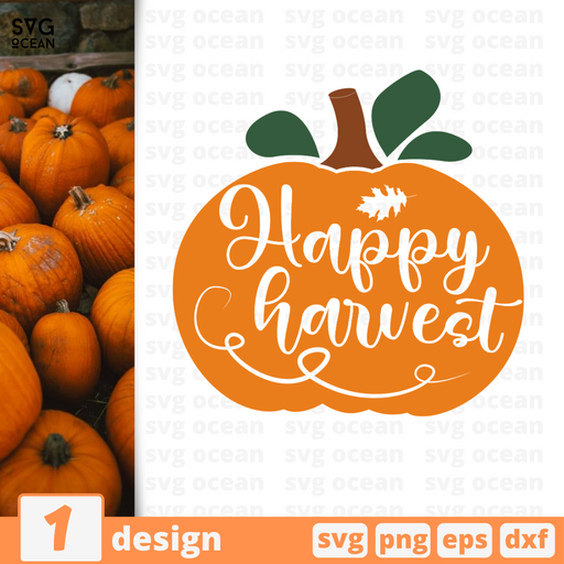 Happy harvest SVG vector bundle - Svg Ocean