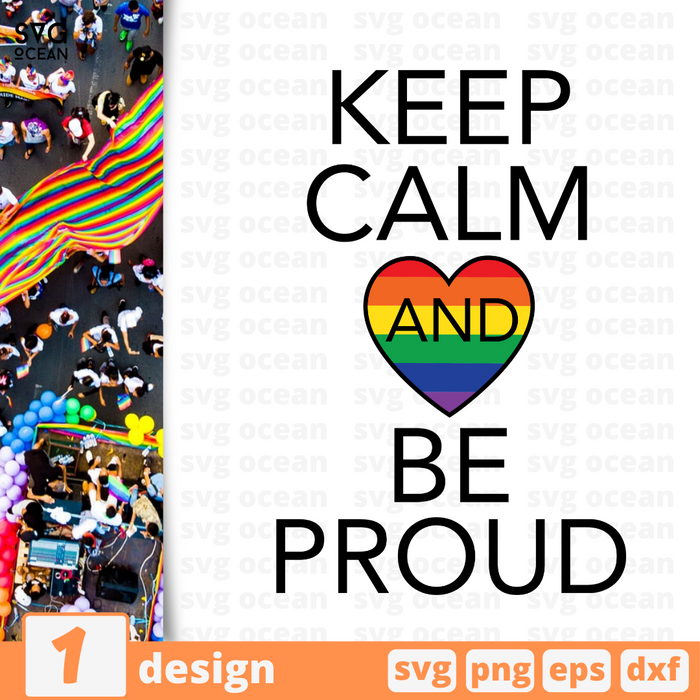 Keep calm and be proud SVG vector bundle - Svg Ocean