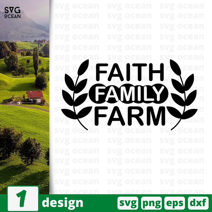 Faith family farm SVG vector bundle - Svg Ocean