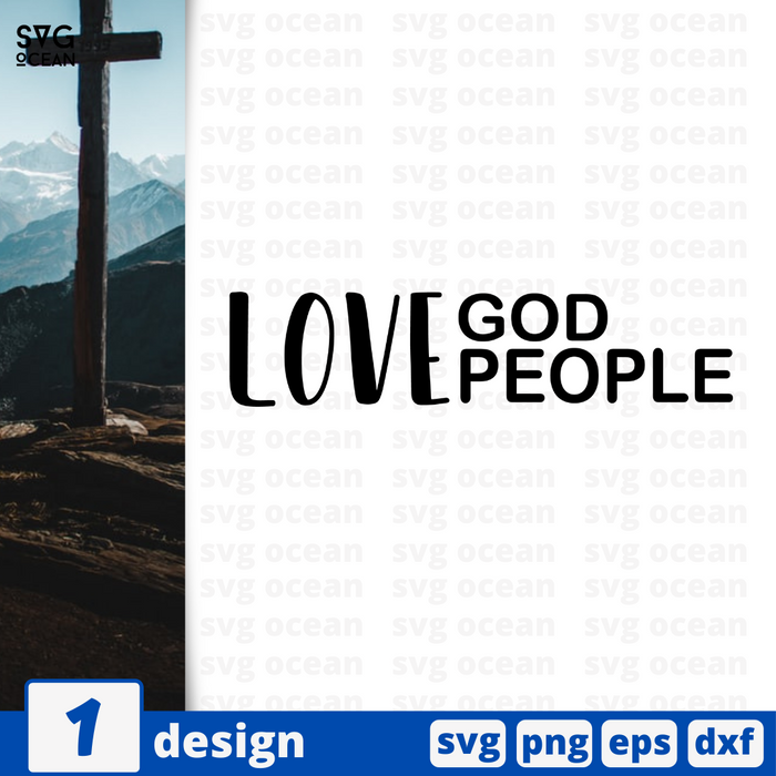 Love God Love people SVG vector bundle - Svg Ocean