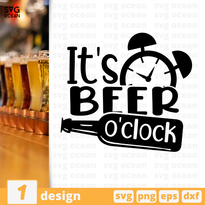 It's beer o'clock SVG vector bundle - Svg Ocean