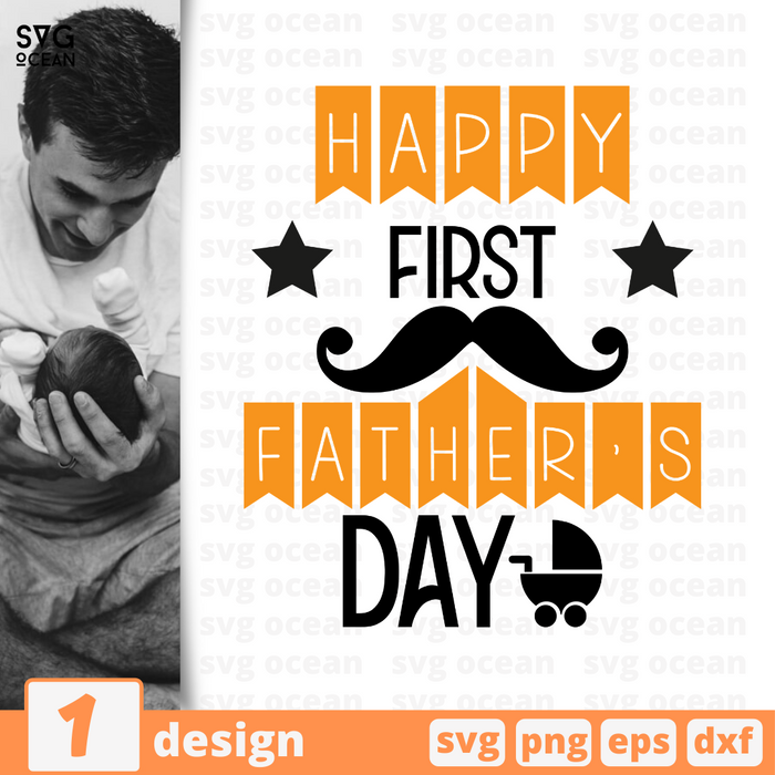 Happy first Father's day SVG bundle - Svg Ocean
