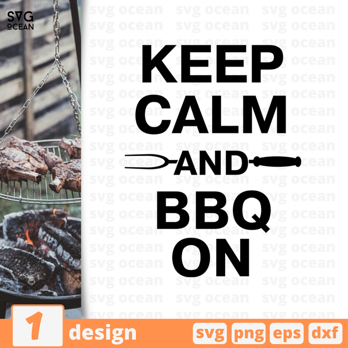 Keep calm and BBQ on SVG vector bundle - Svg Ocean