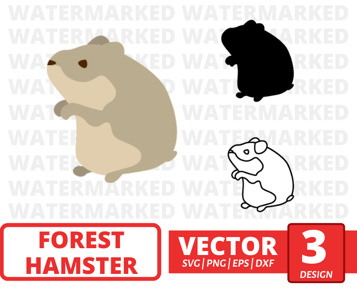 Forest hamster SVG vector bundle - Svg Ocean