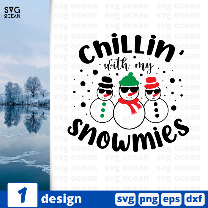 Chillin' with my snowmies SVG vector bundle - Svg Ocean