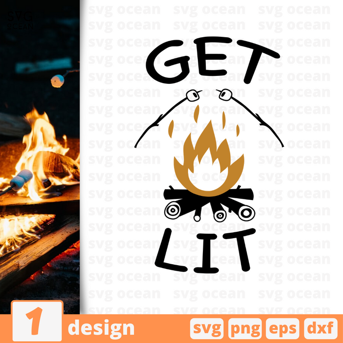 Get lit  SVG vector bundle - Svg Ocean