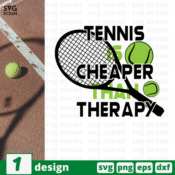 Tennis is cheaper than therapy SVG vector bundle - Svg Ocean