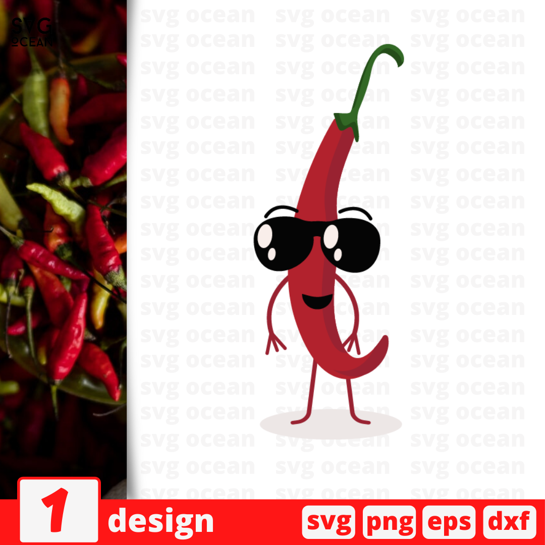 Chili pepper SVG vector bundle - Svg Ocean