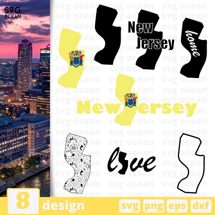 New Jersey SVG vector bundle - Svg Ocean