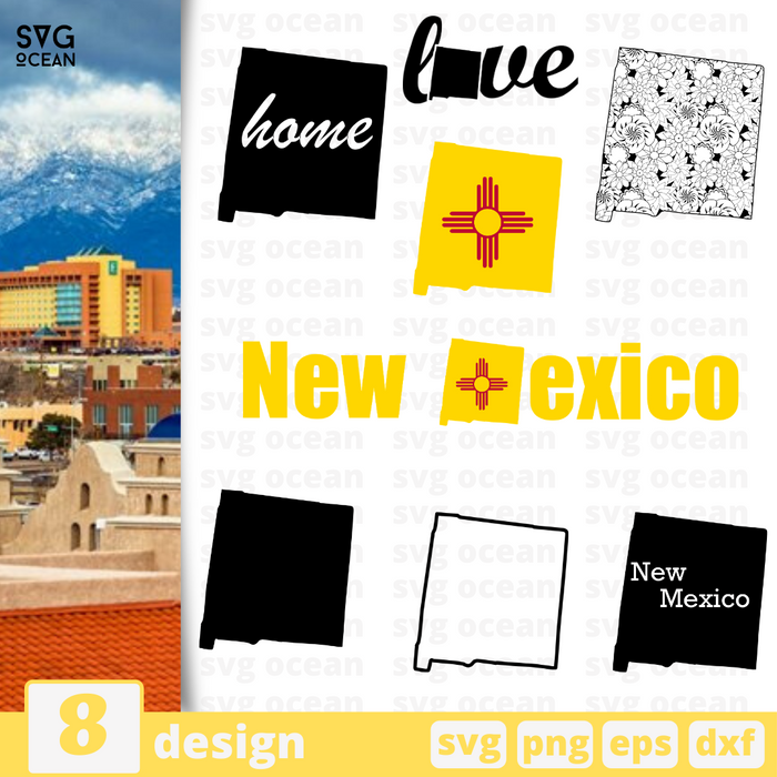 New Mexico SVG vector bundle - Svg Ocean