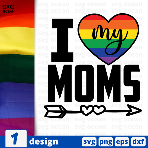 I love my moms SVG vector bundle - Svg Ocean