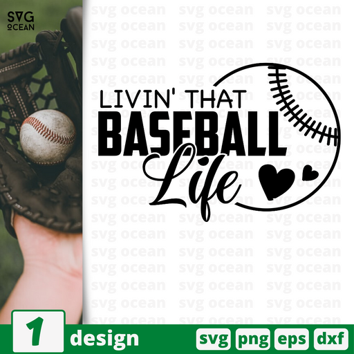 Livin' that baseball life SVG vector bundle - Svg Ocean