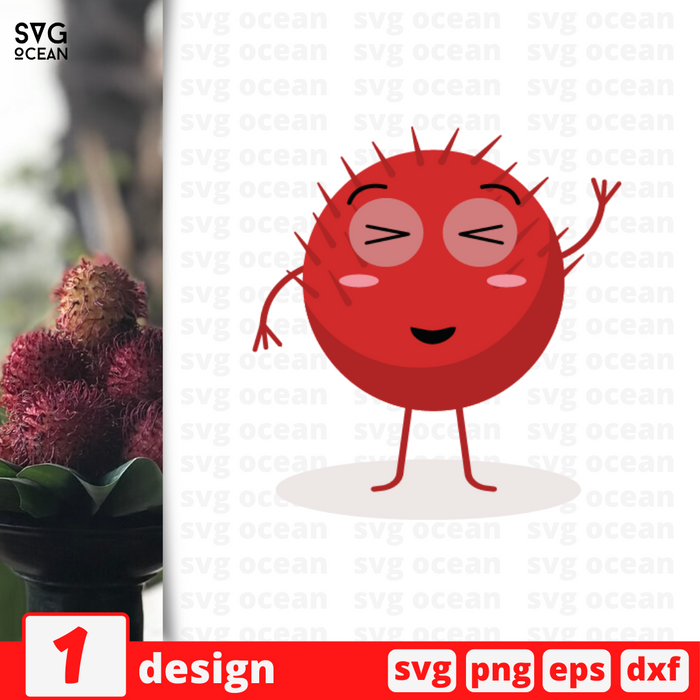 Rambutan SVG vector bundle - Svg Ocean