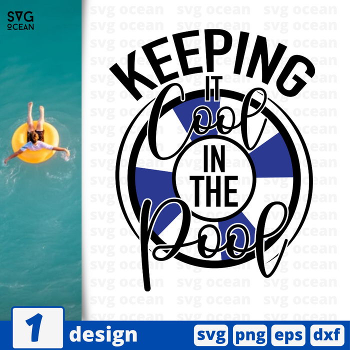 Keeping it cool in the pool SVG vector bundle - Svg Ocean
