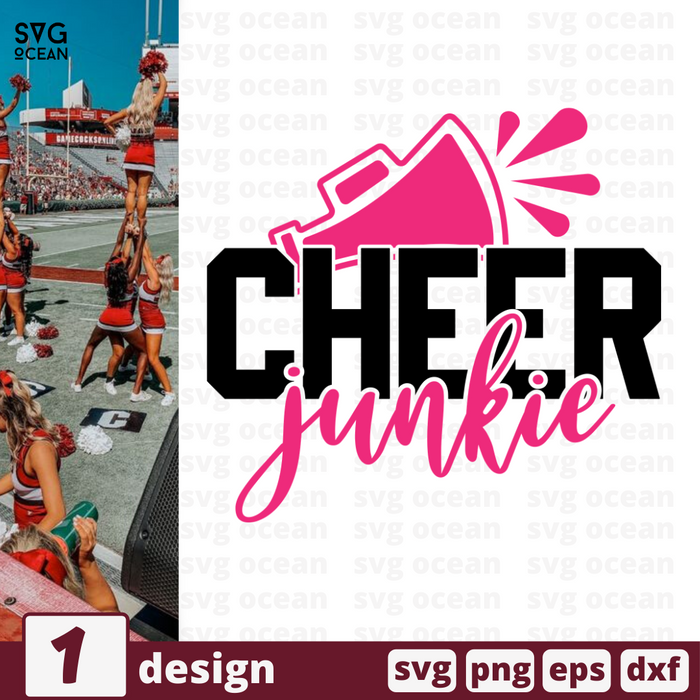 Cheer junkie SVG vector bundle - Svg Ocean