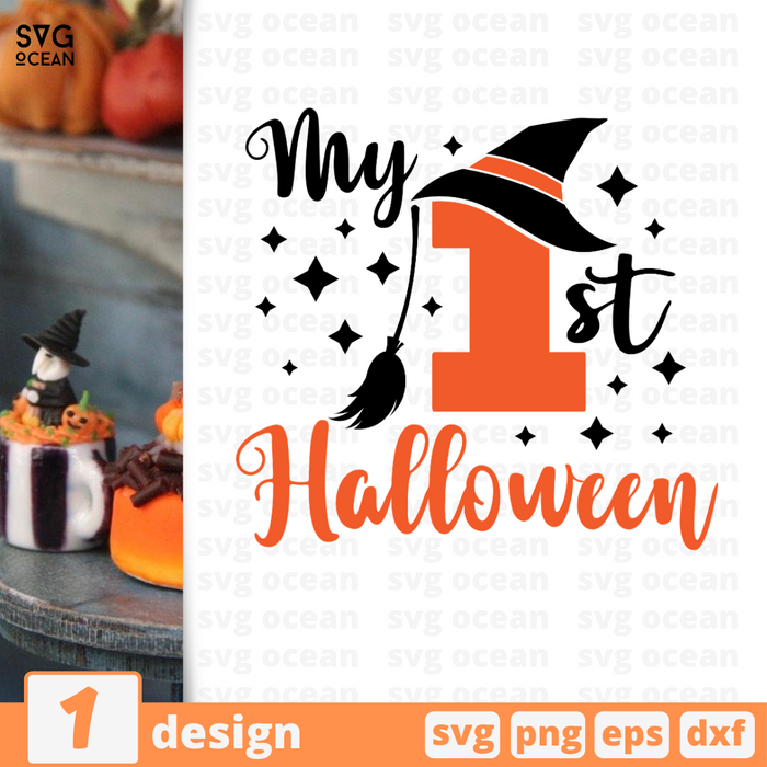 My 1st Halloween SVG vector bundle - Svg Ocean