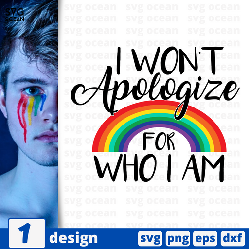 I won't apologize for who i am SVG vector bundle - Svg Ocean