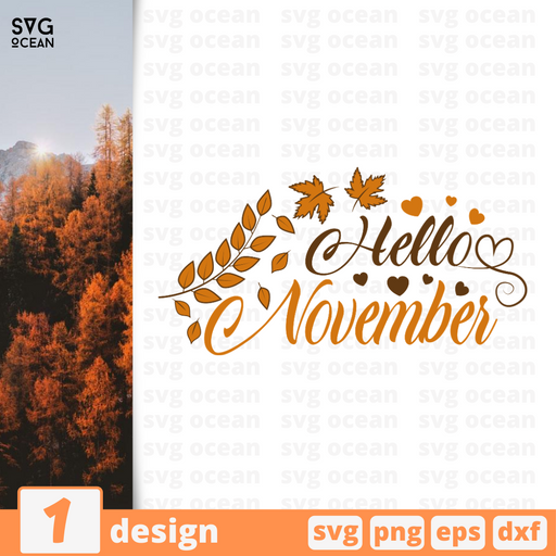 Hello November SVG vector bundle - Svg Ocean