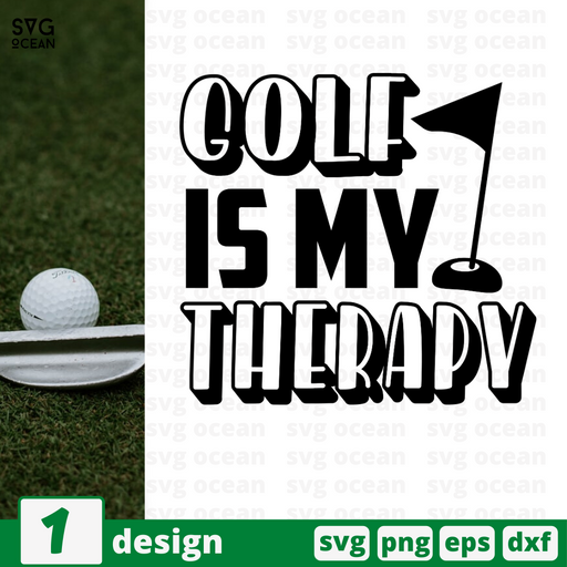 Golf is my therapy SVG vector bundle - Svg Ocean