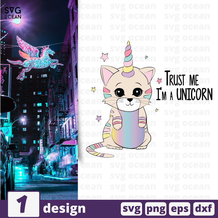 Free Unicorncat quote SVG printable cut file Unicorncat - Svg Ocean