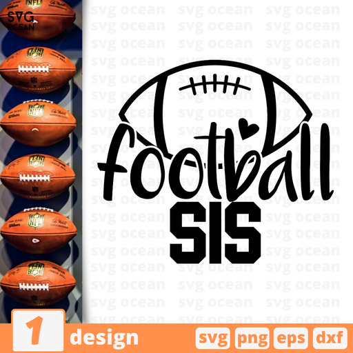 Football sis SVG vector bundle - Svg Ocean