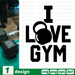 I love gym SVG vector bundle - Svg Ocean
