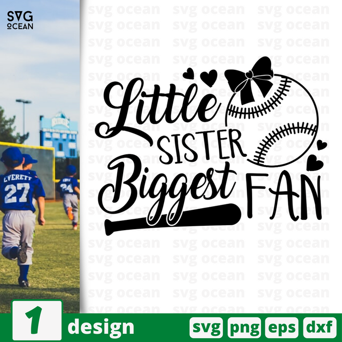 Little sister biggest fan SVG vector bundle - Svg Ocean