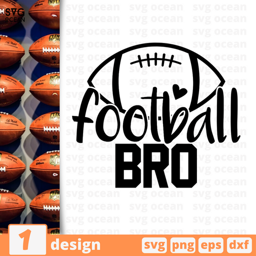 Football bro SVG vector bundle - Svg Ocean