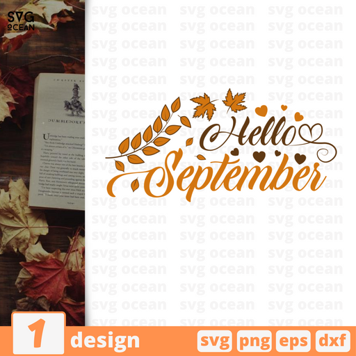 Hello september SVG vector bundle - Svg Ocean