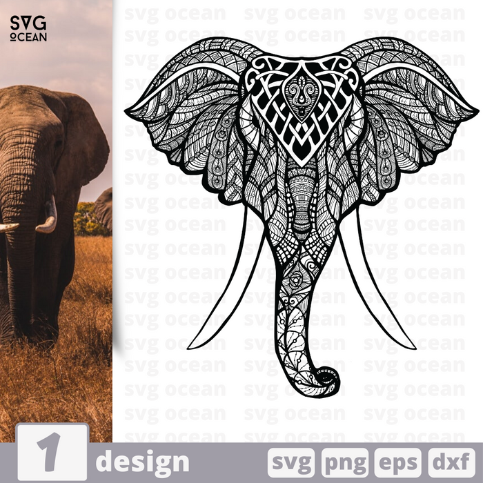 Free Elephant quote SVG printable cut file Elephant - Svg Ocean