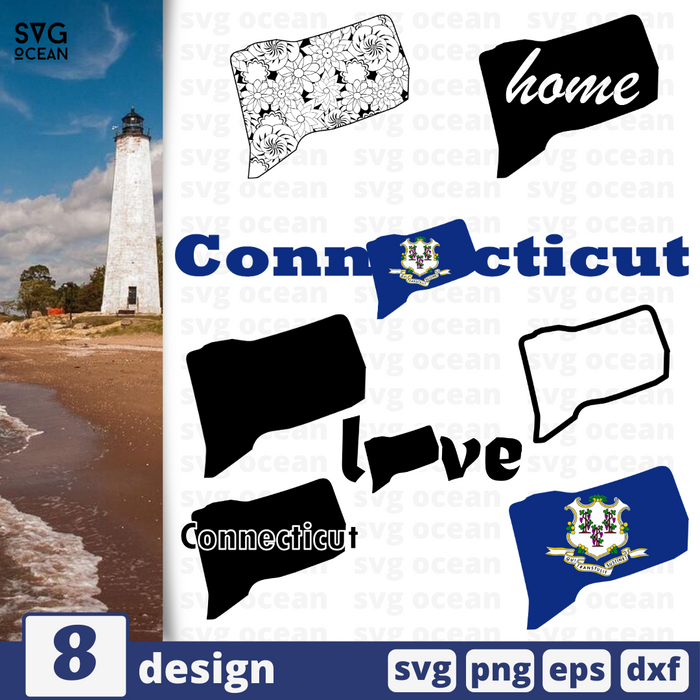 Connecticut SVG vector bundle - Svg Ocean