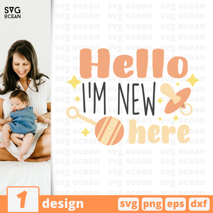 Hello I'm new here SVG vector bundle - Svg Ocean