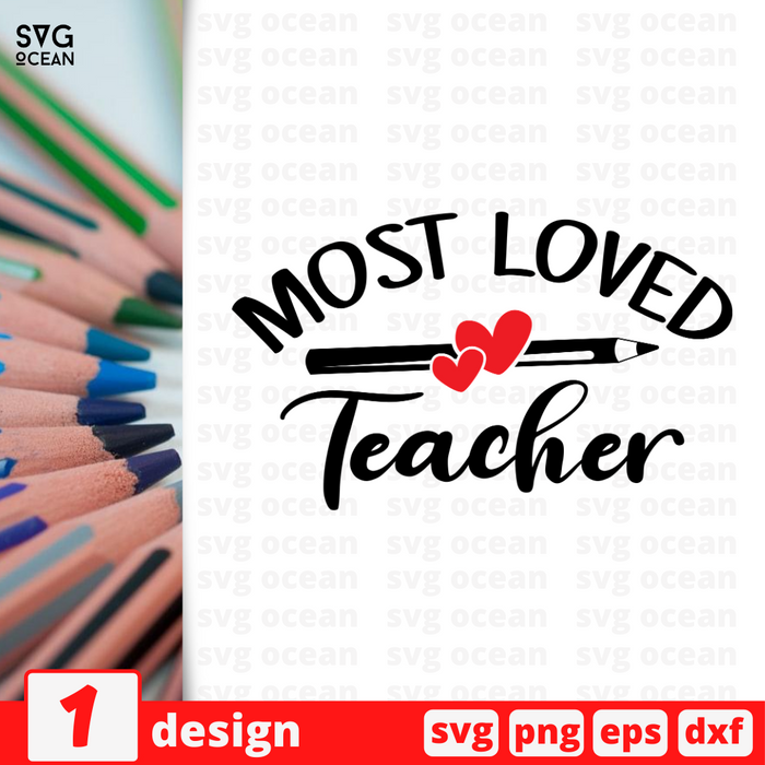 Most loved Teacher SVG vector bundle - Svg Ocean