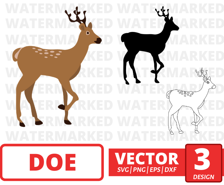 Doe SVG vector bundle - Svg Ocean