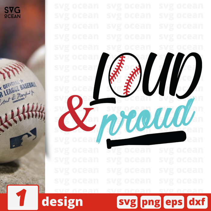 Free Ball quote SVG printable cut file Loud proud - Svg Ocean
