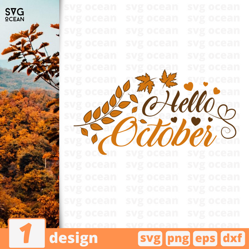 Hello october SVG vector bundle - Svg Ocean