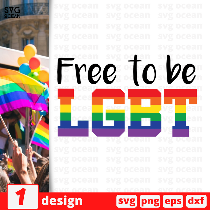 Free to be lgbt SVG vector bundle - Svg Ocean
