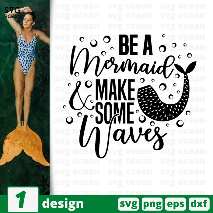 Be a memaid & make some waves SVG vector bundle - Svg Ocean