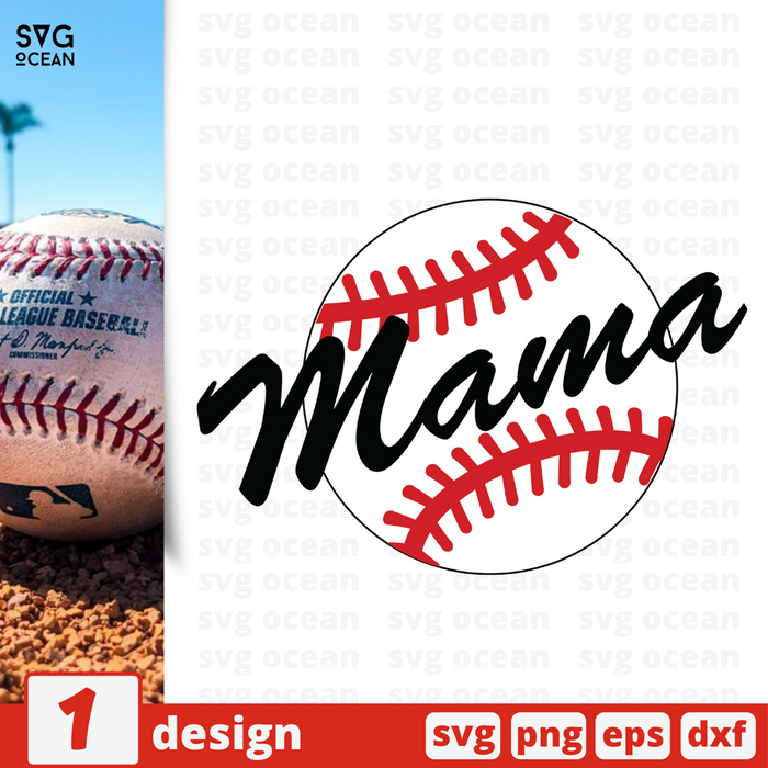 Free Ball quote SVG printable cut file Mama Ball - Svg Ocean