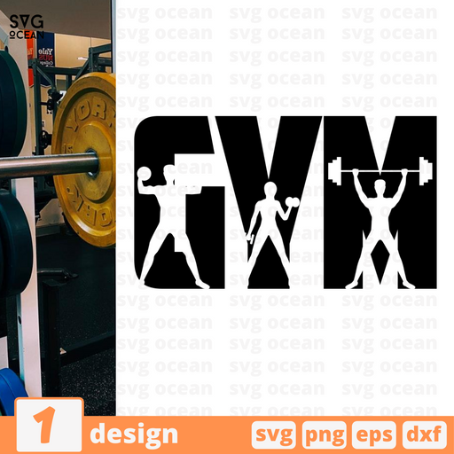 Gym SVG vector bundle - Svg Ocean