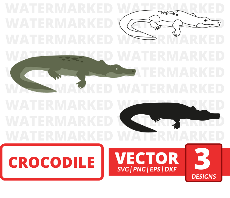 Crocodile SVG vector bundle - Svg Ocean