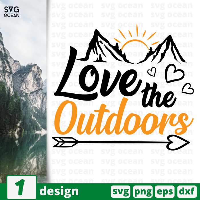 Love the outdoors  SVG vector bundle - Svg Ocean