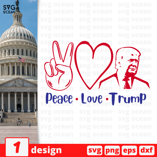 Peace Love Trump SVG vector bundle - Svg Ocean