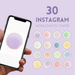 Pastel colors Instagram highlight covers - Svg Ocean