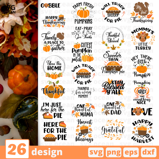 Thankful Quotes SVG Bundle - Svg Ocean
