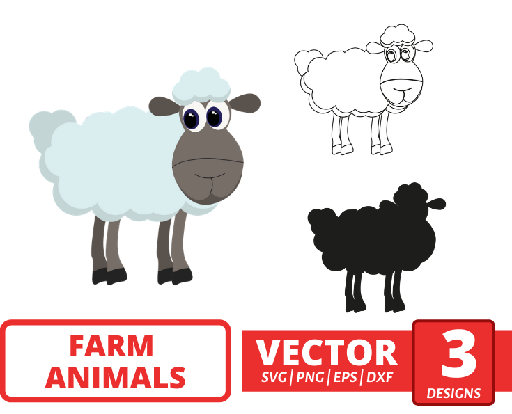 Sheep SVG vector bundle - Svg Ocean
